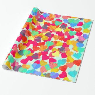 Papier Cadeau Coeurs abstraits pour la Saint-Valentin