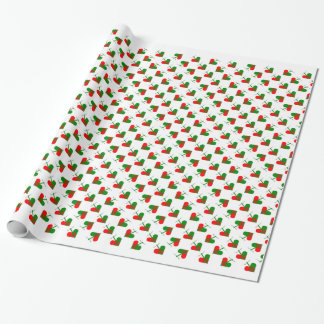 Papier Cadeau Coeurs scandinaves mignons de Noël