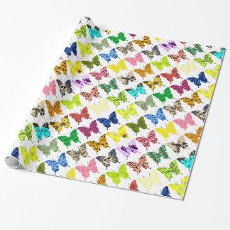 Papier Cadeau Collage de papillon