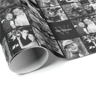 Papier Cadeau Collage de photo de famille