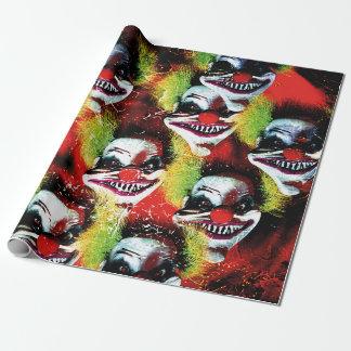 Papier Cadeau collage mauvais déplaisant de clown d'horreur de