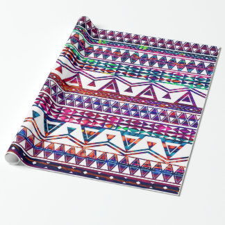 Papier Cadeau Conception aztèque tribale assez Girly