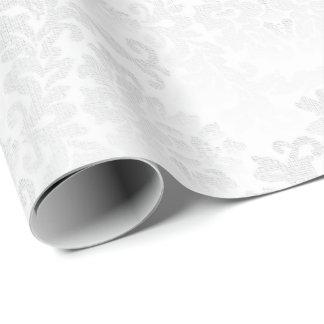 Papier Cadeau Conception blanche assez florale de mariage