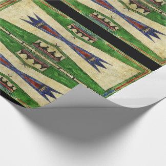 Papier Cadeau conception de Cheyenne Parfleche de 1880's