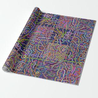 Papier Cadeau Conception de labyrinthe de nouilles