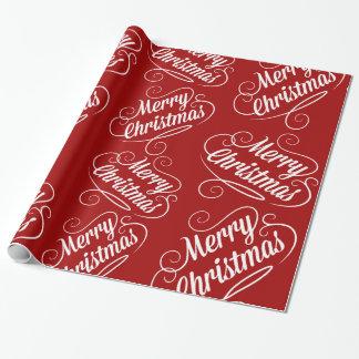 Papier Cadeau Conception saisonnière rouge de vacances de Joyeux