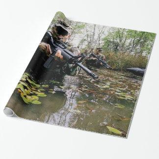 Papier Cadeau conceptions militaires impressionnantes de papier