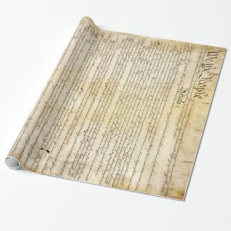 Papier Cadeau Constitution d'Etats-Unis vintage