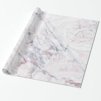 Papier Cadeau Contact d'à la mode chic de remous de marbre gris