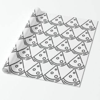 Papier Cadeau Contour de pizza