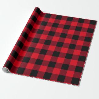 Papier Cadeau Contrôle américain de Buffalo de grenier rouge et