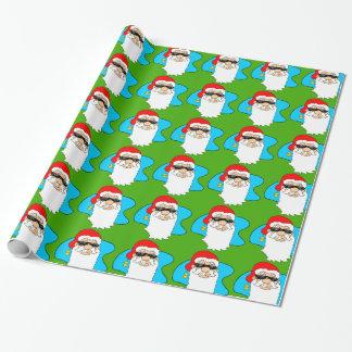 Papier Cadeau Cool Père Noël de Joyeux Noël dans le motif de