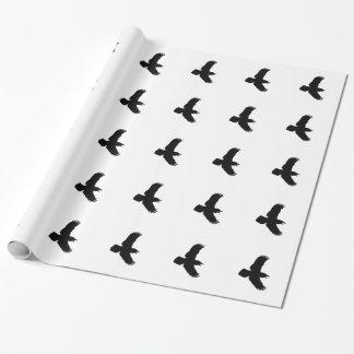 Papier Cadeau Copie d'oiseau de Ravens de vol