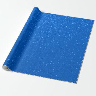 Papier Cadeau Copie doucement bleue de scintillement