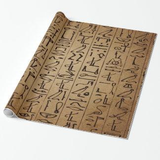 Papier Cadeau Copie égyptienne vintage de papier de hiéroglyphes
