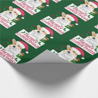 Papier Cadeau Corgi de Noël