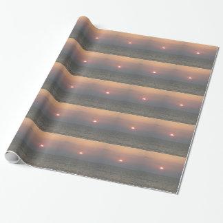 Papier Cadeau Coucher du soleil au-dessus de papier d'emballage