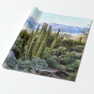 Papier Cadeau Coucher du soleil de Succulent de Scottsdale