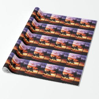 Papier Cadeau Coucher du soleil hawaïen