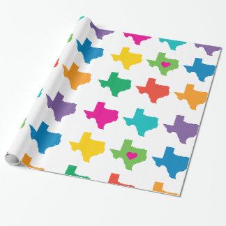 Papier Cadeau Couleurs lumineuses de papier d'emballage de motif