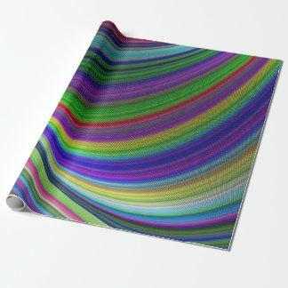 Papier Cadeau Courbes de couleur