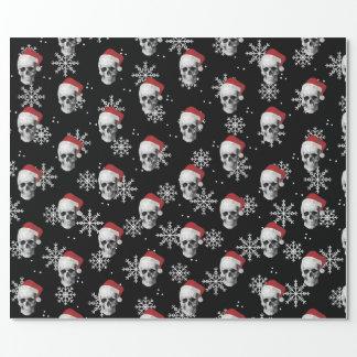 Papier Cadeau Crâne grunge Père Noël
