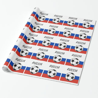Papier Cadeau Croquis du football du drapeau | de Russa