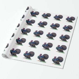 Papier Cadeau Cru Turquie de papier d'emballage de thanksgiving