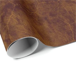 Papier Cadeau Cuir âgé par brun simili cuir