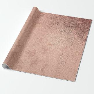 Papier Cadeau Cuivre rouge métallique grunge d'or de poudre de