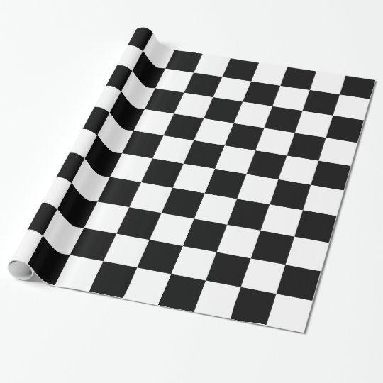 papier cadeau damier noir et blanc. Black Bedroom Furniture Sets. Home Design Ideas