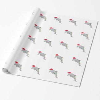 Papier Cadeau Dauphin de Noël