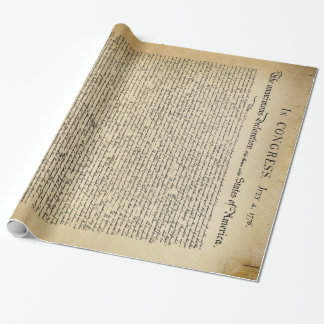 Papier Cadeau Déclaration d'indépendance vintage
