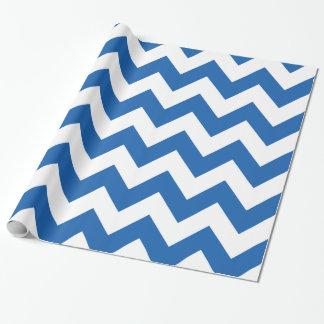 Papier Cadeau Denim Chevron audacieux bleu