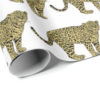 Papier Cadeau Dessin de chat repéré par guépard vintage de