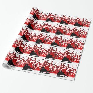 Papier Cadeau Destin de paix d'hiver de flocon de neige de Noël