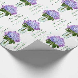 """Papier Cadeau """"D'hortensia de Fleurs """""""