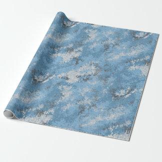 Papier Cadeau Digi bleu Camo