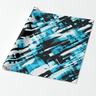 Papier Cadeau Digitalart G253 d'abrégé sur noir bleu de papier