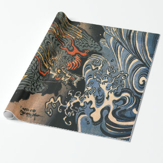 Papier Cadeau Dragon et la mer