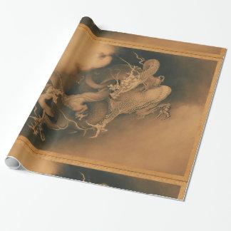 Papier Cadeau Dragon japonais vintage