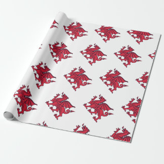 Papier Cadeau Dragon rouge de Welsh//Wales