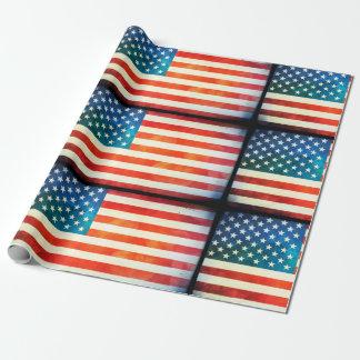 Papier Cadeau Drapeau américain