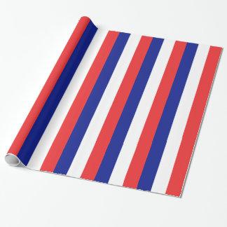 Papier Cadeau Drapeau de Français Tricolore de la France