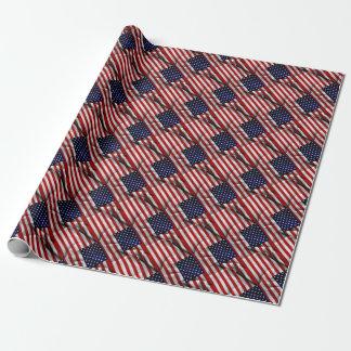 Papier Cadeau Drapeau des USA d'effet de tissu