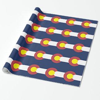 Papier Cadeau Drapeau du Colorado