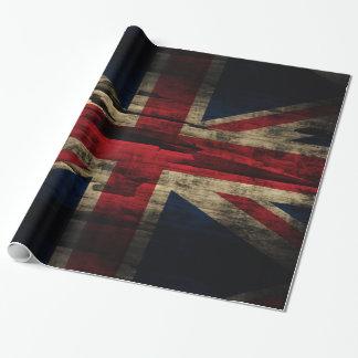 Papier Cadeau Drapeau grunge d'Union Jack les Anglais