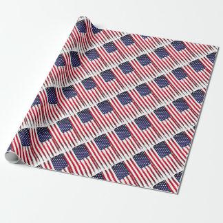 Papier Cadeau Drapeau grunge patriotique américain