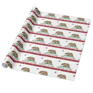 Papier Cadeau Drapeau Mendocino de République de la Californie