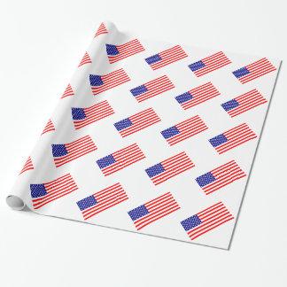Papier Cadeau Drapeaux américains Etats-Unis